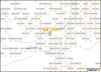 map of Dietzen