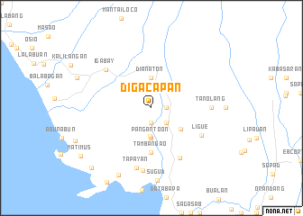 map of Digacapan