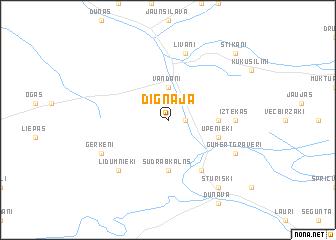 map of Dignāja