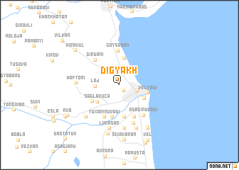 map of Digyakh