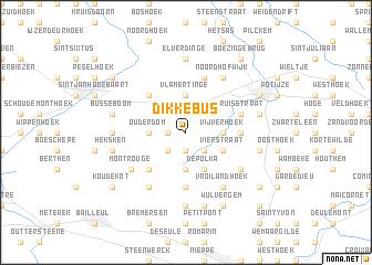 map of Dikkebus