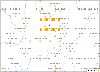 map of Dikonguné