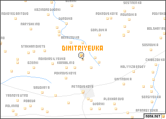 map of Dimitriyevka