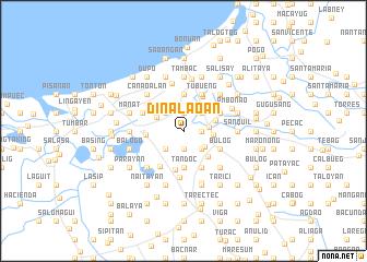 map of Dinalaoan