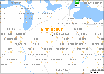 Dinguiraye Senegal map nonanet