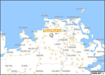 map of Diniginan