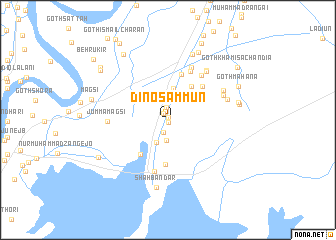 map of Dino Sammun
