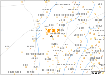 map of Dīnpur