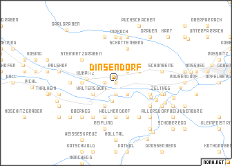 map of Dinsendorf