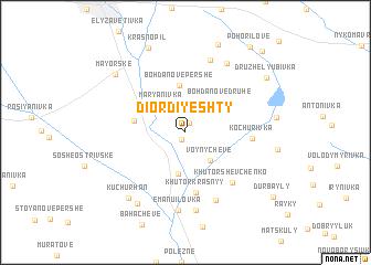 map of (( Diordiyeshty ))