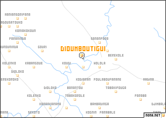 map of Dioumboutigui