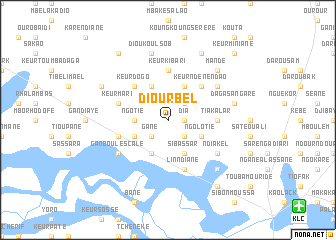 Diourbel Senegal map nonanet