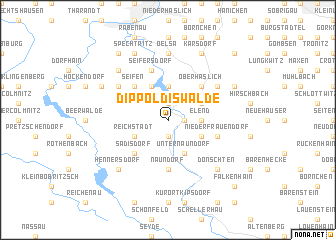 map of Dippoldiswalde