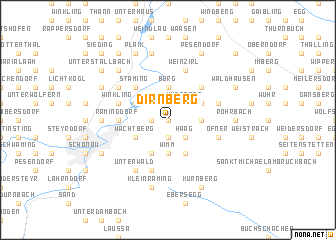 map of Dirnberg