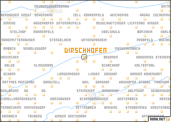 map of Dirschhofen