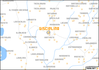 map of Disciplina