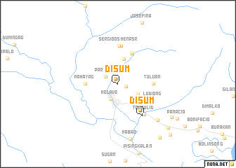 map of Disum