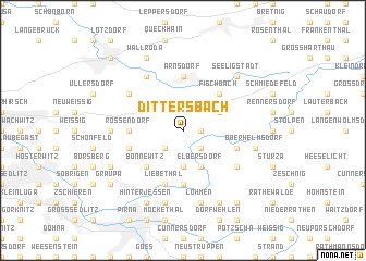 map of Dittersbach
