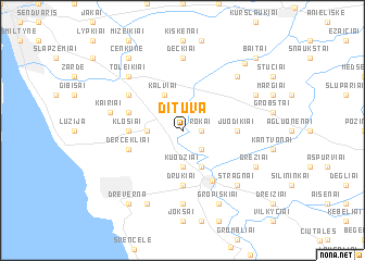 map of Dituva