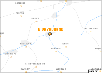 map of Diveyev Usad