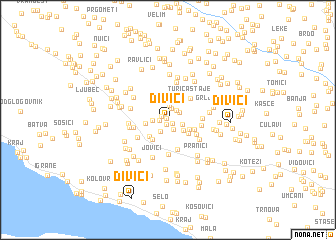 map of Divići
