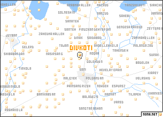 map of Dīv Kotī