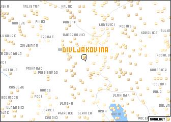 map of Divljakovina