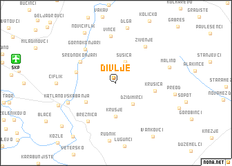 map of Divlje
