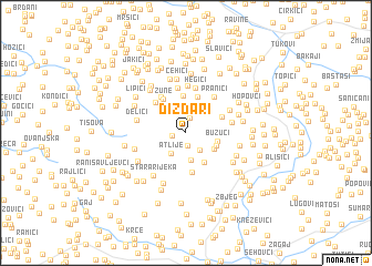 map of Dizdari