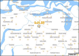 map of Djilor