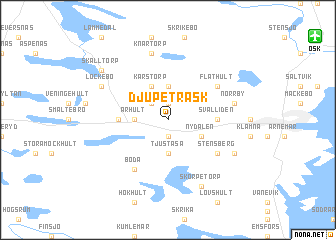 map of Djupeträsk