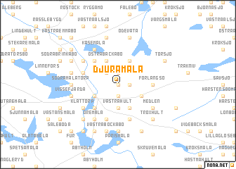 map of Djuramåla