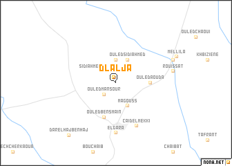 map of Dlalja