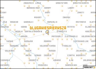 map of Długa Wieś Pierwsza