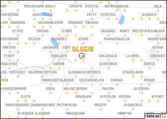 map of Długie
