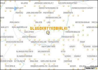 map of Długokąty Kobiałki
