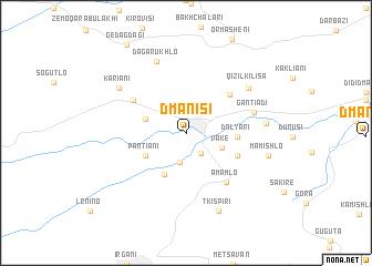Dmanisi (Georgia) map   nona.net