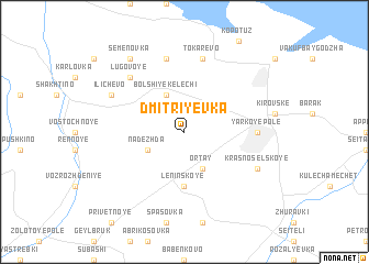 map of Dmitriyevka