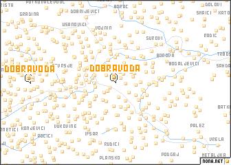 map of Dobra Voda