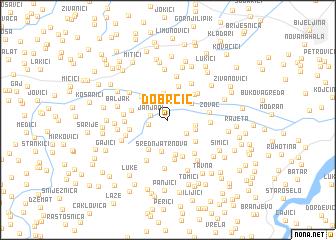 map of Dobrčić