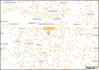 map of Dobrić
