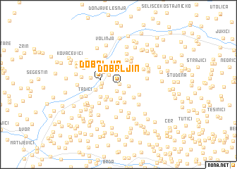 map of Dobrljin