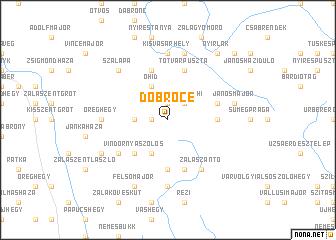 map of Döbröce