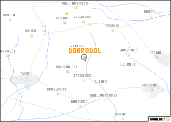 map of Dobrodol