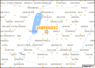 map of Dobromierz