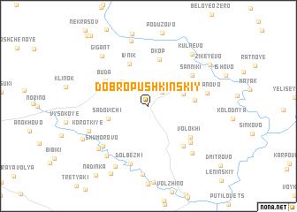 map of Dobropushkinskiy