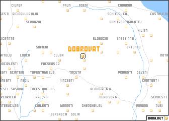 map of Dobrovăţ