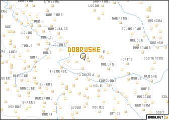 map of Dobrushë