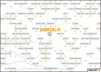 map of Dobrzelin