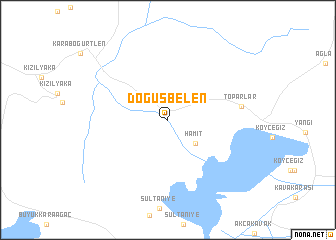 map of Döğüşbelen